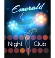 Night Club poster template vector image vector image