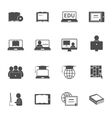 Online Education Icon Set vector image vector image