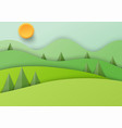 paper beautiful nature landscape background vector image