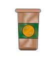 paper coffee cup portable fresh aroma break vector image vector image
