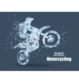 Particles of motorcycle ridersfull enterprising vector image
