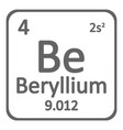periodic table element beryllium icon vector image