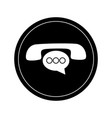 phone icon with chat bubble vector image vector image