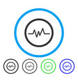 pulse monitoring rounded icon vector image