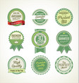 quality retro badge collection 3 vector image vector image