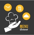 Restaurant and chefs hat design vector image vector image