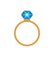 ring with modern style vector image