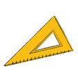 school triangle ruler vector image vector image