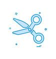scissor icon design vector image