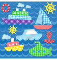 Sea transport stickers vector | Price: 1 Credit (USD $1)