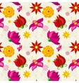 seamless pattern with flowers and floral vector image