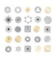 set handmade sunburst design elements vector image vector image