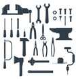 set locksmith tools isolated on white vector image