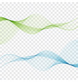 set of blend abstract wave vector image vector image