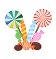 set of christmas sweet lollipops candies vector image vector image