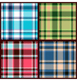 set of seamless checkered pattern vector image vector image