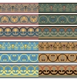 Set of seamless Greek patterns of different colors vector image vector image
