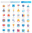 set of trendy flat gradient startup vector image
