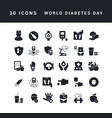 simple icons world diabetes day vector image vector image