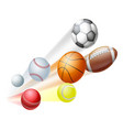 sports balls concept vector image vector image