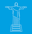 statue of jesus christ rio de janeiro icon vector image vector image