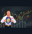superhero businessman in finance concept vector image vector image