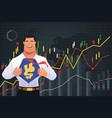 superhero businessman in finance concept vector image