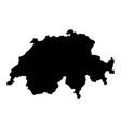 switzerland island map silhouette