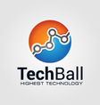 Technology Ball vector image vector image