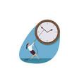 time management deadline business concept vector image