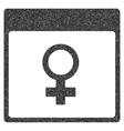 Venus Female Symbol Calendar Page Grainy Texture vector image