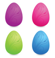 vibrant floral Easter eggs vector image vector image