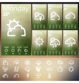 Weather Widget UI set vector image