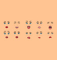 women facial expressions gestures emotions vector image vector image