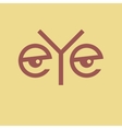 Word Eye vector image vector image