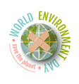world enviroment day vector image vector image