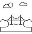 bridge line icon sign vector image