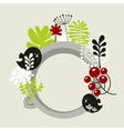 Round banner with spring nature vector image