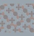 3d clay brick pattern floor-08 vector image vector image