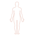 Male body outline vector | Price: 1 Credit (USD $1)