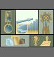 achievements abstract set vector image vector image