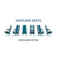 airplane seat aircraft interior armchairs in vector image vector image