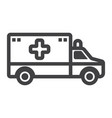 ambulance line icon medicine and healthcare vector image vector image