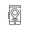 app guide line icon concept sign outline vector image