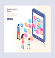 application store isometric vector image