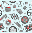 auto spare parts seamless pattern car repair icon vector image vector image