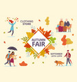 autumn fair fall season public exhibition vector image vector image