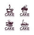 bakery pastry confectionery cake dessert vector image