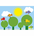 birds in the trees vector image vector image