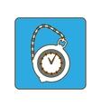 blue pocket watch icon image vector image vector image